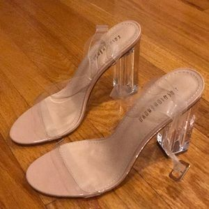 Fashion Nova clear heel 7.5